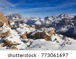 snow covered pass in the... | Shutterstock . vector #773061697