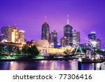 Night Urban City Skyline....