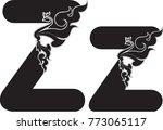 swirl doodle alphabet letter z...   Shutterstock .eps vector #773065117