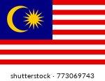 national flag of malasia | Shutterstock . vector #773069743