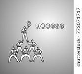 businessmen do a pyramid of... | Shutterstock .eps vector #773071717