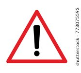 red exclamation sign   danger... | Shutterstock .eps vector #773075593