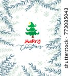 christmas card with tree and... | Shutterstock .eps vector #773085043