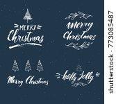 merry christmas calligraphic... | Shutterstock .eps vector #773085487