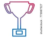 trophy cup isolated icon | Shutterstock .eps vector #773087527
