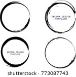 vector round frames. circle for ... | Shutterstock .eps vector #773087743