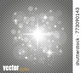 set of golden glowing lights... | Shutterstock .eps vector #773090143