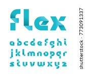 paper font. vector alphabet... | Shutterstock .eps vector #773091337