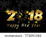 new year background with golden ... | Shutterstock .eps vector #773091583