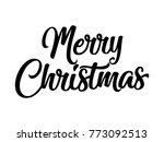 merry christmas vector text... | Shutterstock .eps vector #773092513