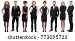 business people in black | Shutterstock . vector #773095723