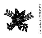flowers natural leaves branch... | Shutterstock .eps vector #773099497
