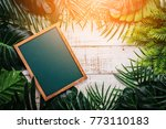summer ideas concept with... | Shutterstock . vector #773110183