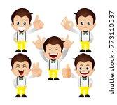 cute set   set of man character  | Shutterstock .eps vector #773110537