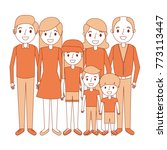 happy family parents son... | Shutterstock .eps vector #773113447