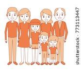 happy family parents son... | Shutterstock .eps vector #773113447