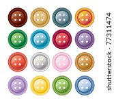 set of colorful sewing buttons  ... | Shutterstock . vector #77311474