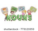 illustration of stickman kids... | Shutterstock .eps vector #773123353