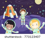 illustration of little... | Shutterstock .eps vector #773123407
