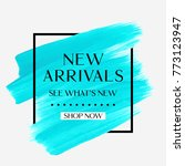 new arrivals sale text over art ... | Shutterstock .eps vector #773123947