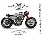 vintage cafe racer poster | Shutterstock .eps vector #773143357