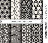geometric vector pattern...   Shutterstock .eps vector #773143477
