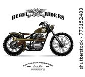 vintage chopper motorcycle... | Shutterstock .eps vector #773152483
