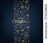 merry christmas and new year... | Shutterstock .eps vector #773153803