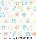feedback seamless pattern... | Shutterstock .eps vector #773154217