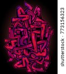 pink and purple urban wild...   Shutterstock .eps vector #773156323
