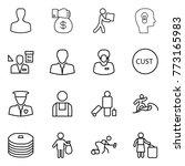 thin line icon set   man  money ... | Shutterstock .eps vector #773165983