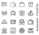 thin line icon set   shop...   Shutterstock .eps vector #773169733