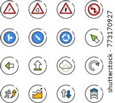 line vector icon set   turn... | Shutterstock .eps vector #773170927