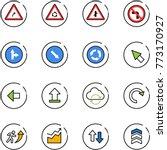 line vector icon set   turn...   Shutterstock .eps vector #773170927