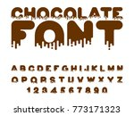 chocolate font. sweetness... | Shutterstock .eps vector #773171323