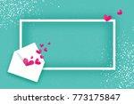 mail love. envelope in paper... | Shutterstock .eps vector #773175847