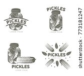 pickles logo set for your... | Shutterstock . vector #773181247