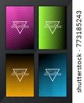 modern vector abstract brochure ... | Shutterstock .eps vector #773185243