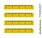 yellow ruler icon. vector... | Shutterstock .eps vector #773191927