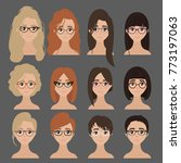 beautiful collection of female... | Shutterstock .eps vector #773197063