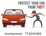 automobile car steal burglar... | Shutterstock .eps vector #773204383