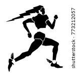 vector illustration of sprinter ... | Shutterstock .eps vector #773212057