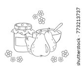 fruit  lineart  flower   Shutterstock .eps vector #773213737