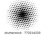 abstract futuristic halftone... | Shutterstock .eps vector #773216233