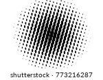 abstract futuristic halftone... | Shutterstock .eps vector #773216287