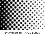 abstract monochrome halftone... | Shutterstock .eps vector #773216833
