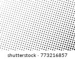 abstract monochrome halftone... | Shutterstock .eps vector #773216857