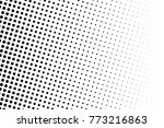 abstract monochrome halftone... | Shutterstock .eps vector #773216863