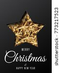 merry christmas and happy new...   Shutterstock .eps vector #773217523