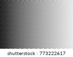 abstract monochrome halftone... | Shutterstock .eps vector #773222617